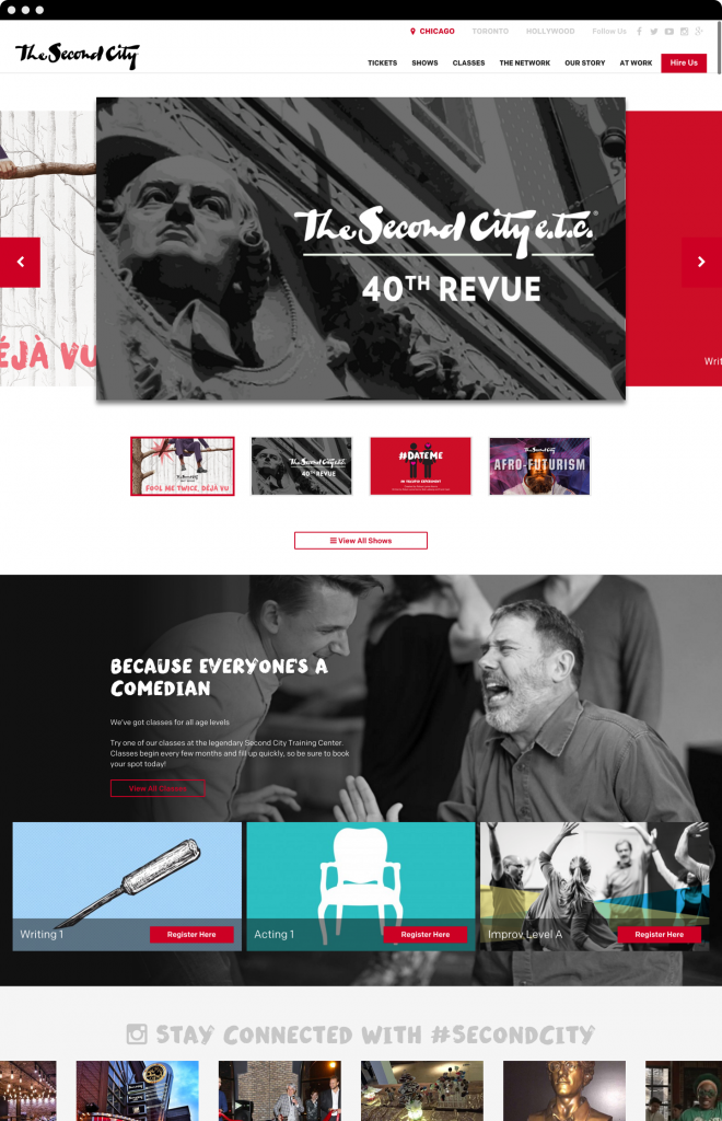 Second City Website Design By Clique Studios, LLC