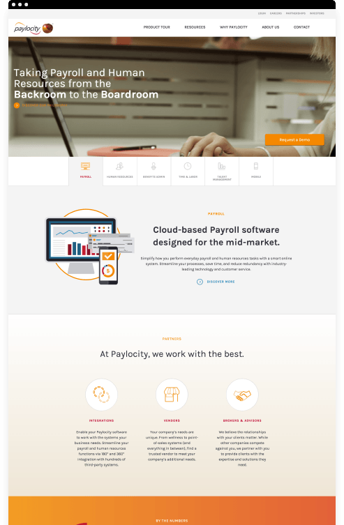 Paylocity Website Design By Clique Studios, LLC