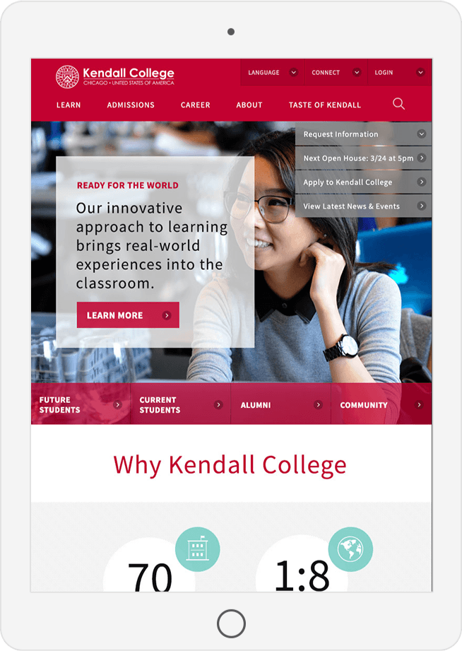 Kendall Website Development by Clique Studios, LLC