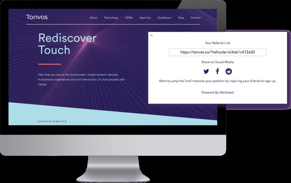 Tanvas Homepage
