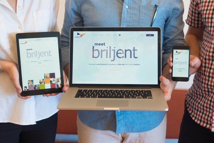 Briljent website redesign