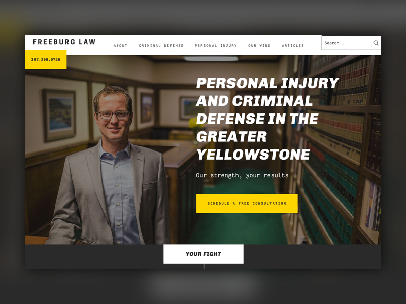 Freeburg law website design homepage
