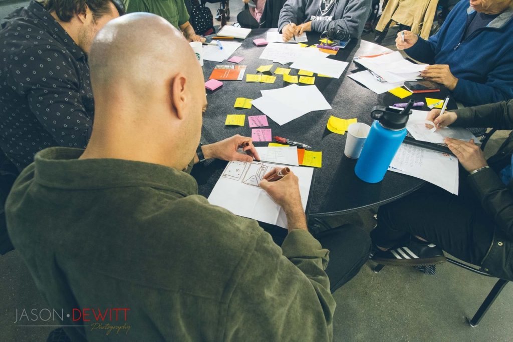 Participants at design sprint
