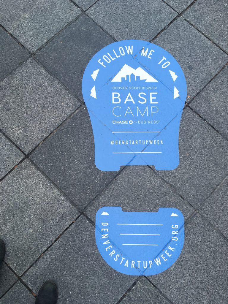 Denver Startup Week signage
