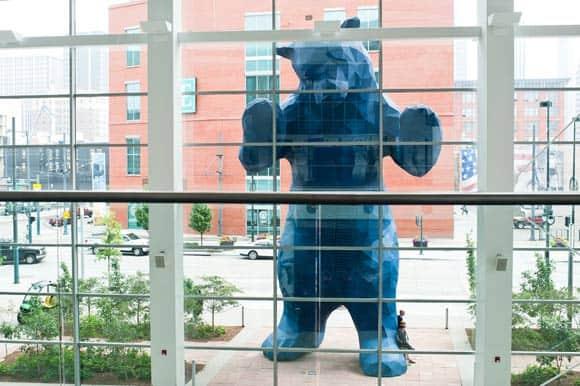 Blue Bear Denver public art