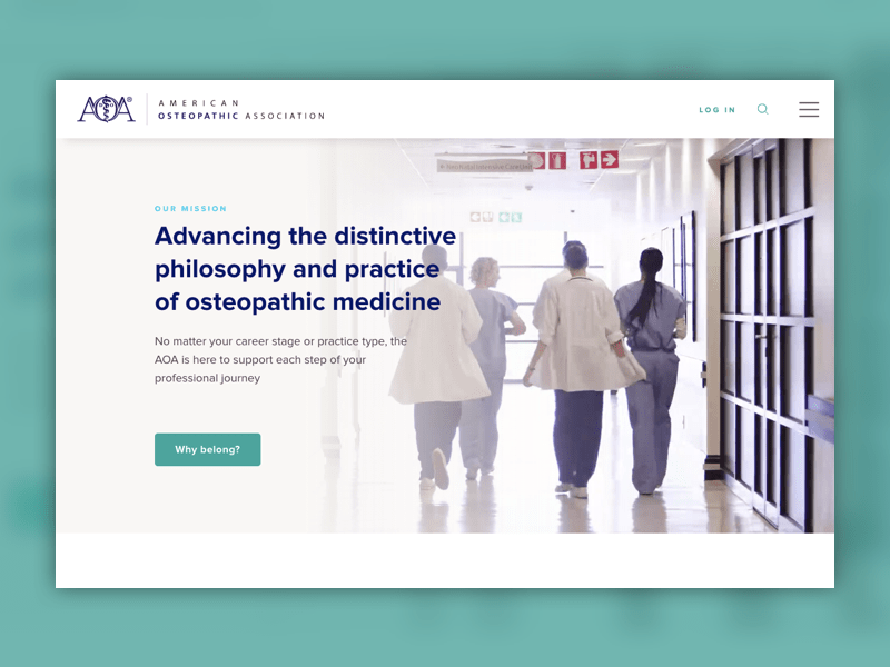 American Osteopathic Association new website