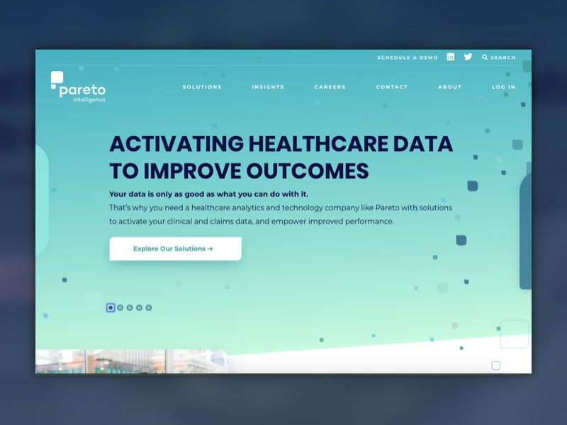 Pareto homepage