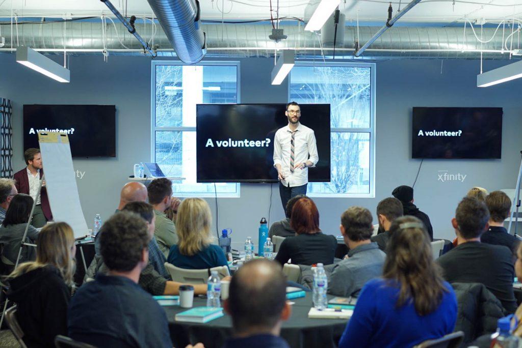 Jake Knapp workshop looking for volunteer