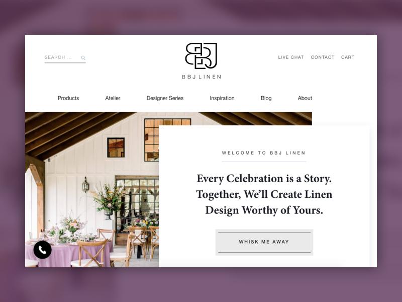 BBJ linen homepage