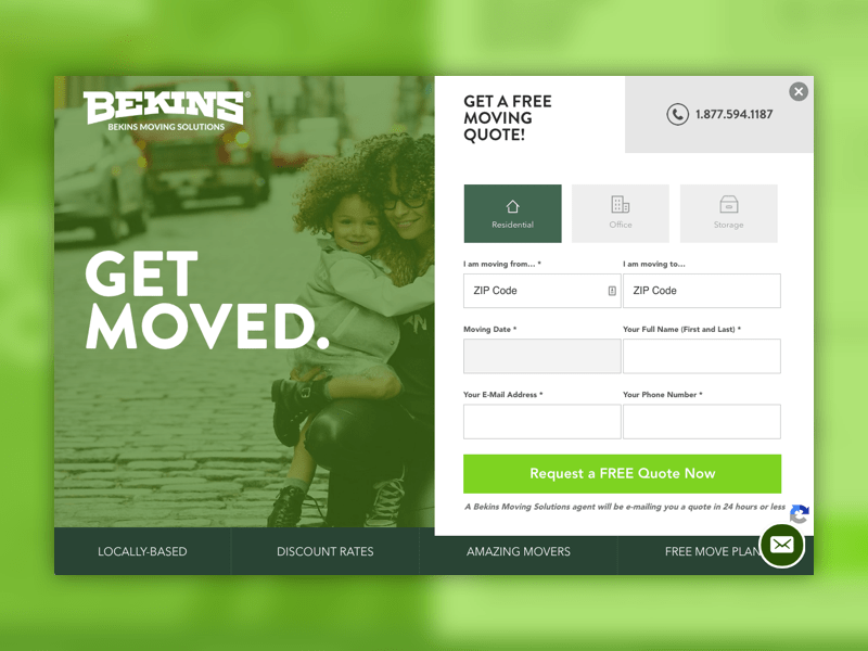 Bekins moving company new website