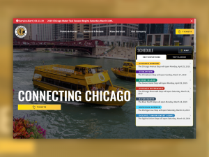 Chicago water taxi homepage
