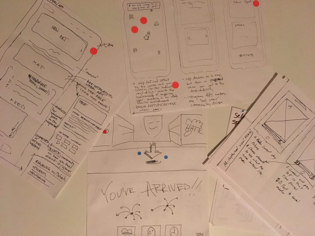 Sketches at design sprint