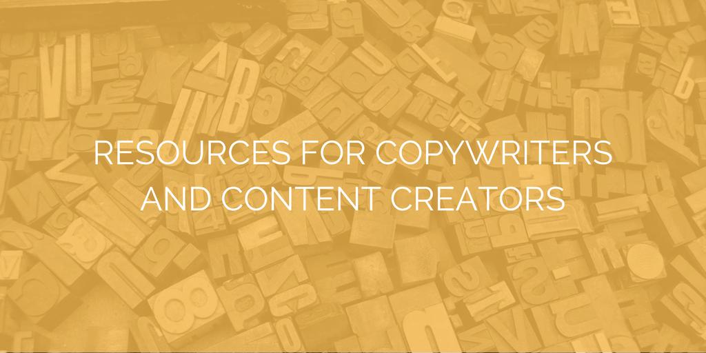 copywriting content marketing rescources
