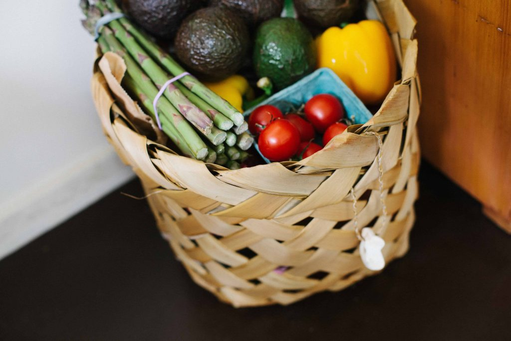 basket of fresh produce