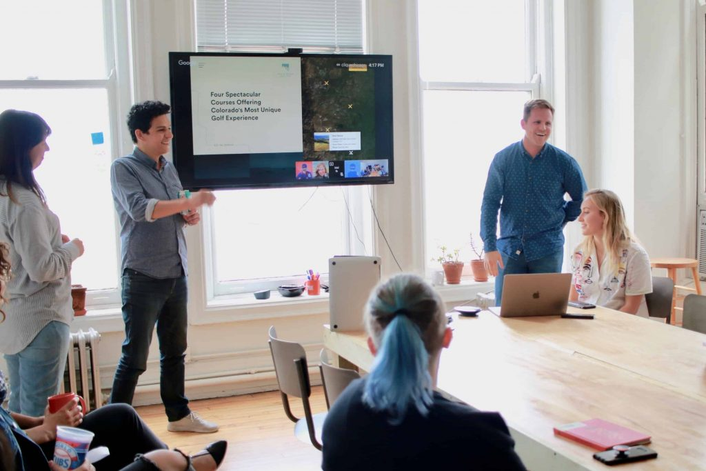 project team presents recent launch