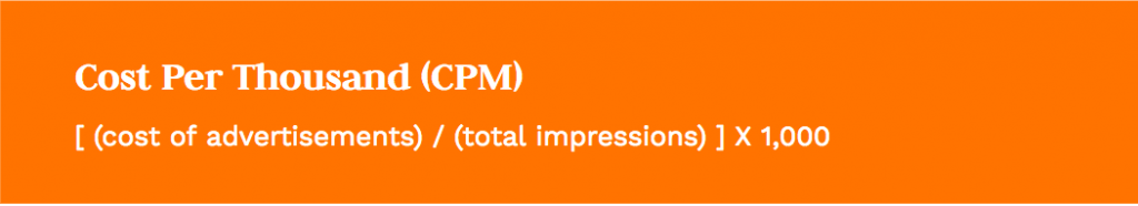 Formula: [total clicks] / [total impressions]