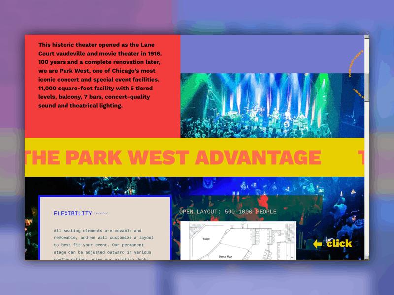 """Screenshot of Park West's website that says """"The Park West Advantage"""""""