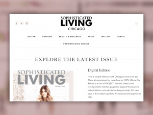 Sophisticated living homepage