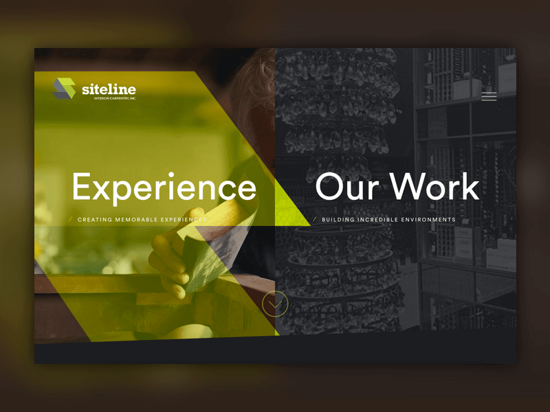 Siteline homepage
