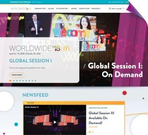 McDonald's WorldWide new homepage first impression