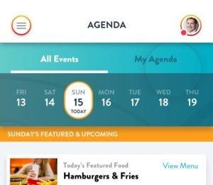 Agenda detail example of app
