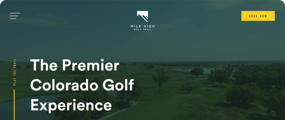 Mile High Golf Trail new homepage first impression
