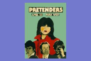 Pretenders concert poster