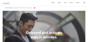 Signal new homepage first impression