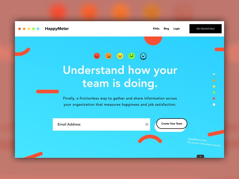 Happy Meter homepage