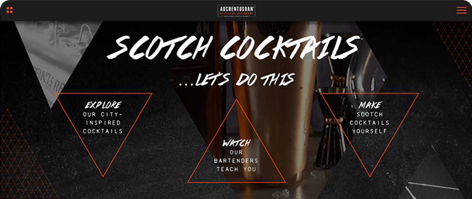 Auchentoshan new homepage first impression
