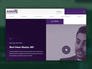 AMA foundation homepage