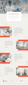 Full homepage of new CRF website