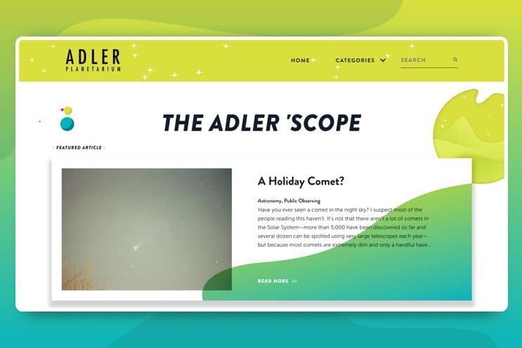 Adler blog post on Adler's site