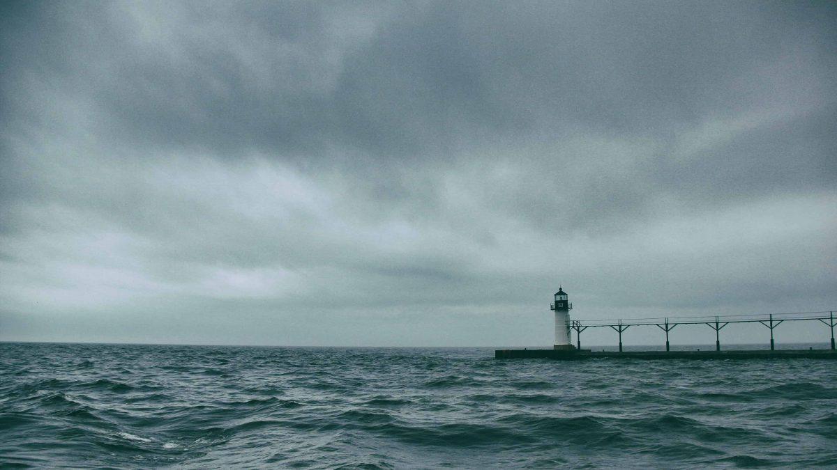 lighthouse on a stormy night