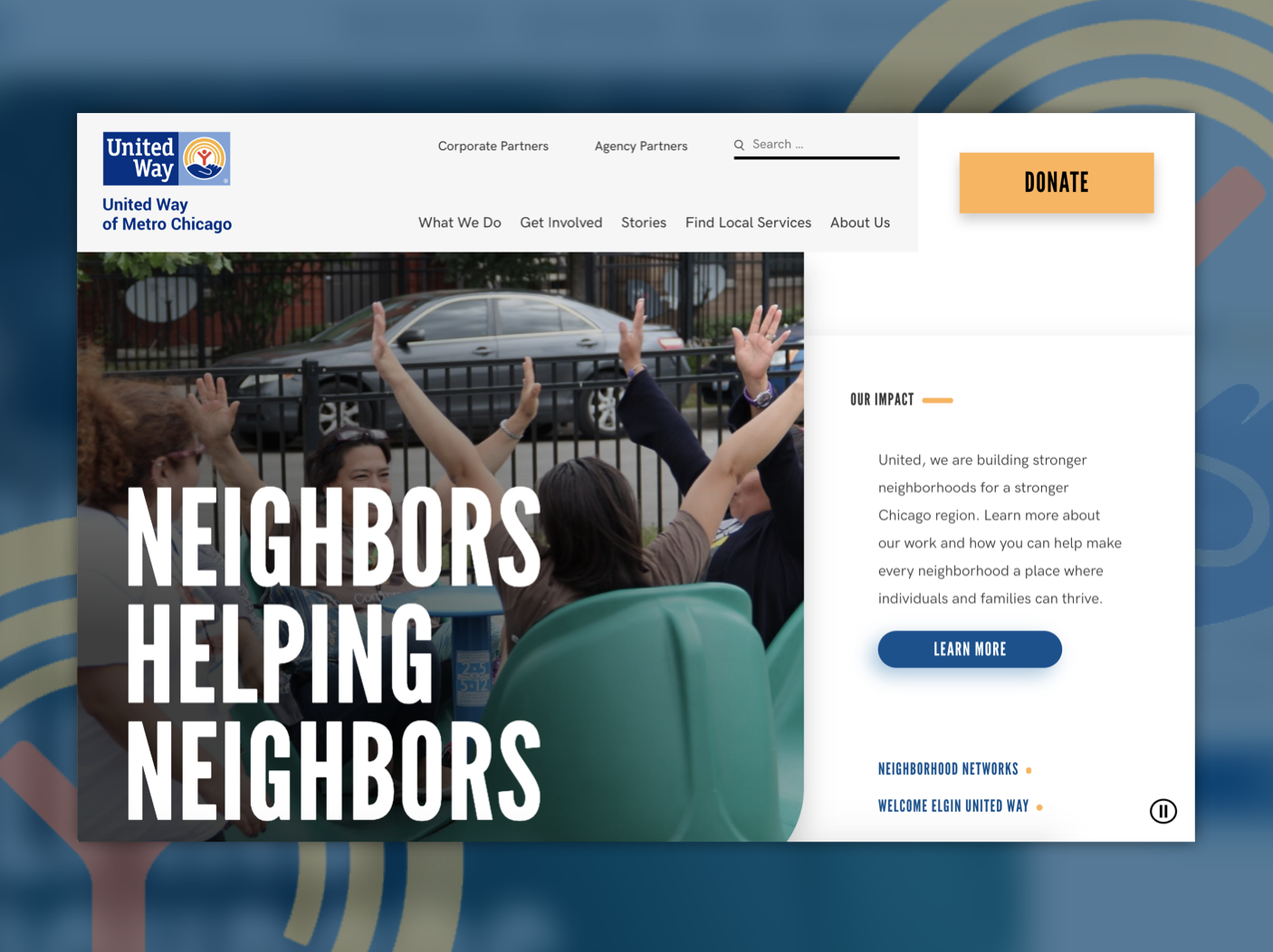 United Way of Metro Chicago homepage