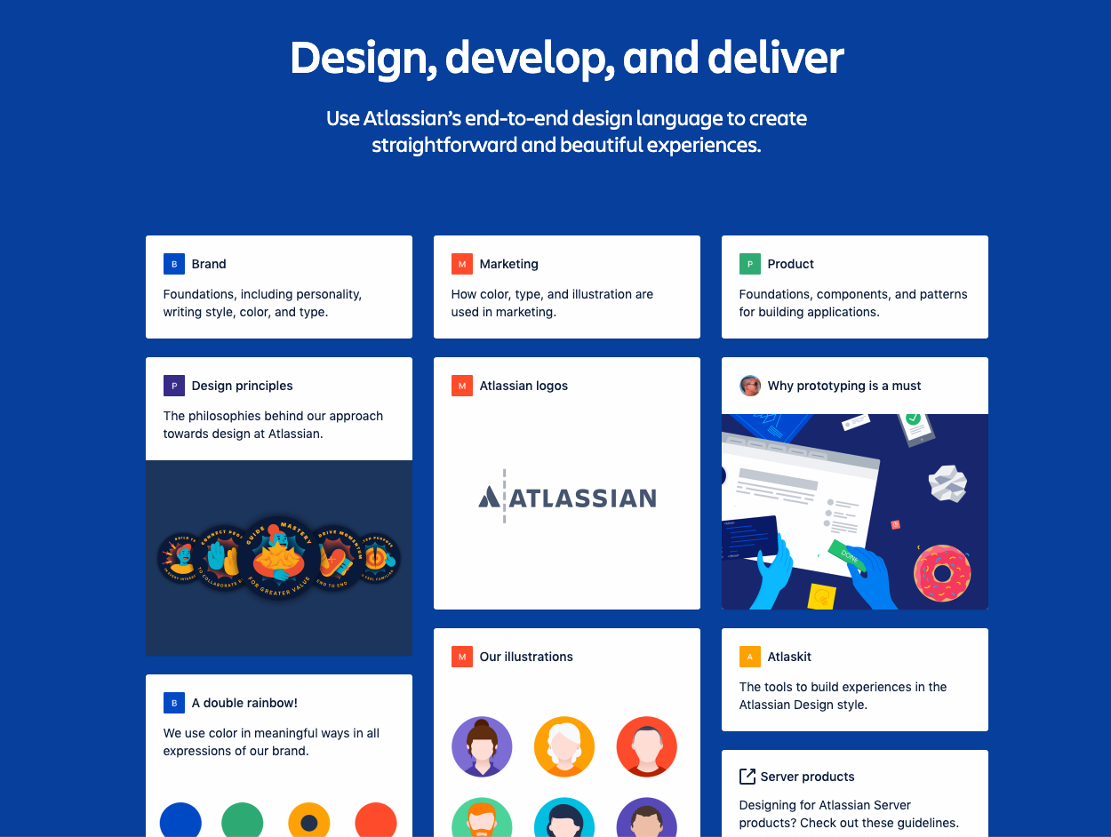atlassian design system categories