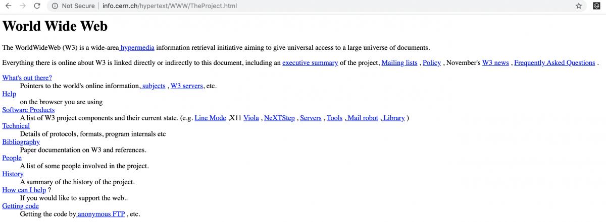 html web design history