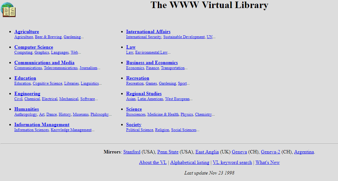 early internet hyperlinks examples