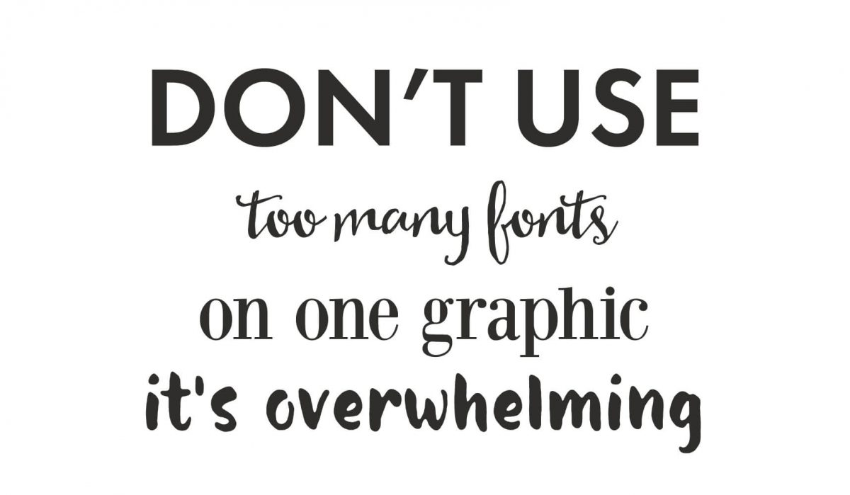 too many fonts example - the actual worst