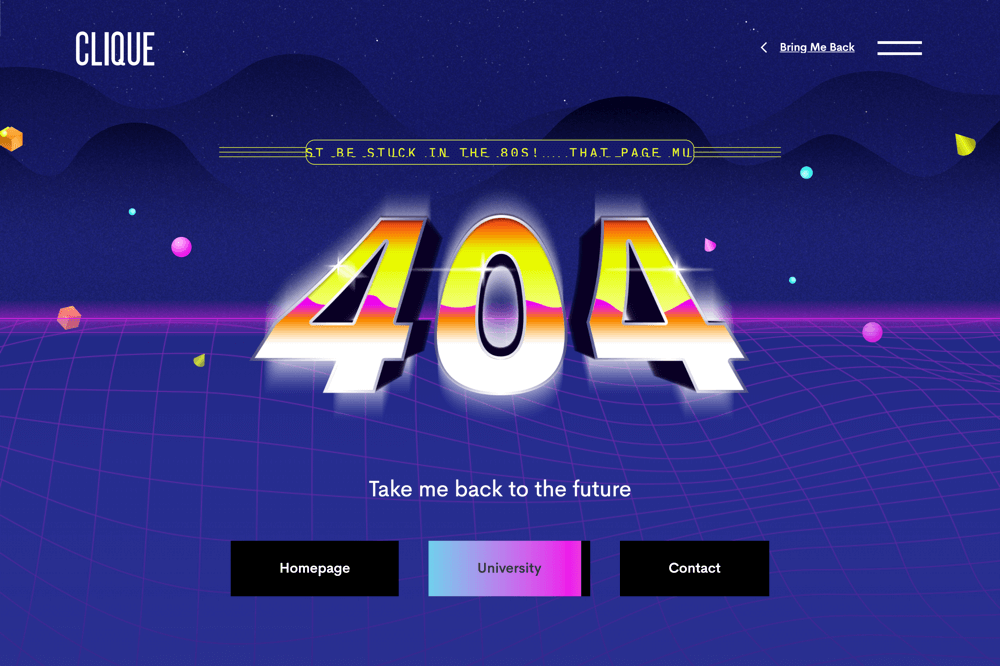clique studios 404 page