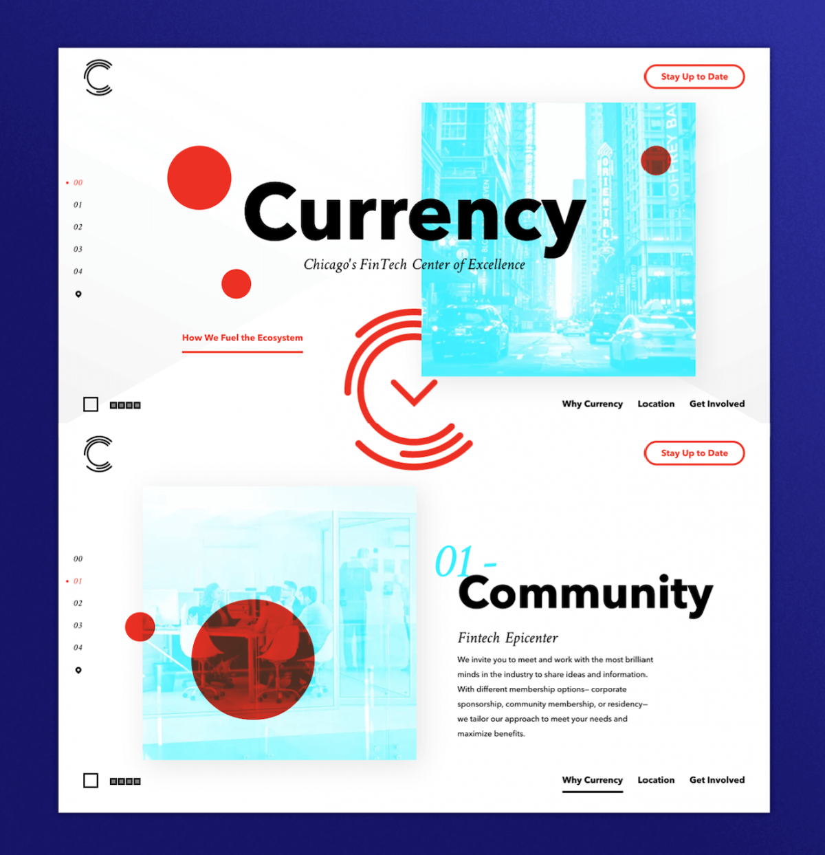 Landing page for Currency
