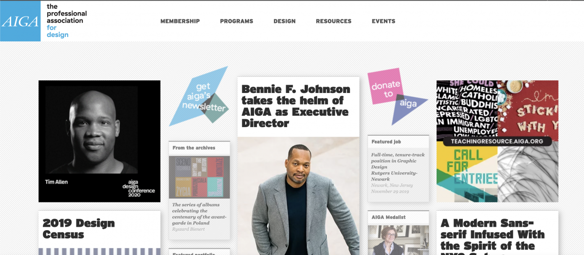 American Institute of Graphic Arts homepage