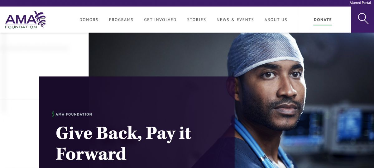 American Medical Association homepage