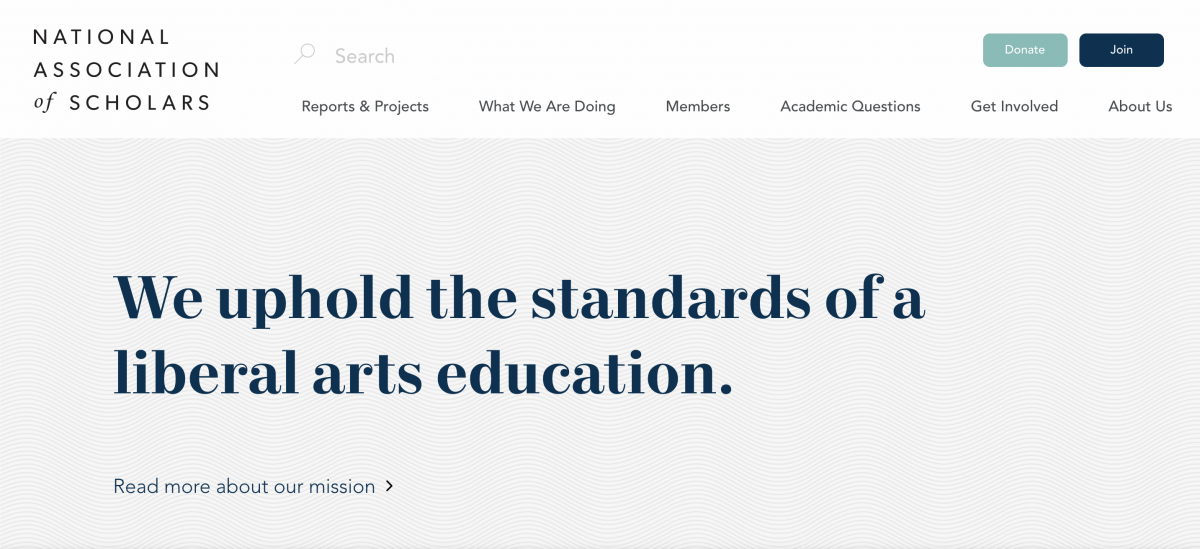 National Association of Scholars homepage