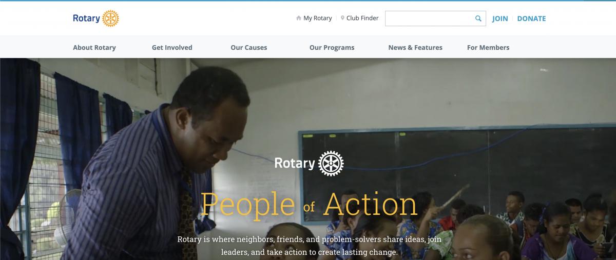 Rotary International homepage