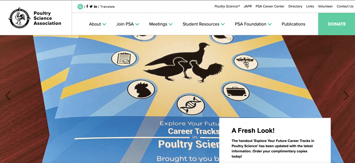 Poultry Science Association homepage