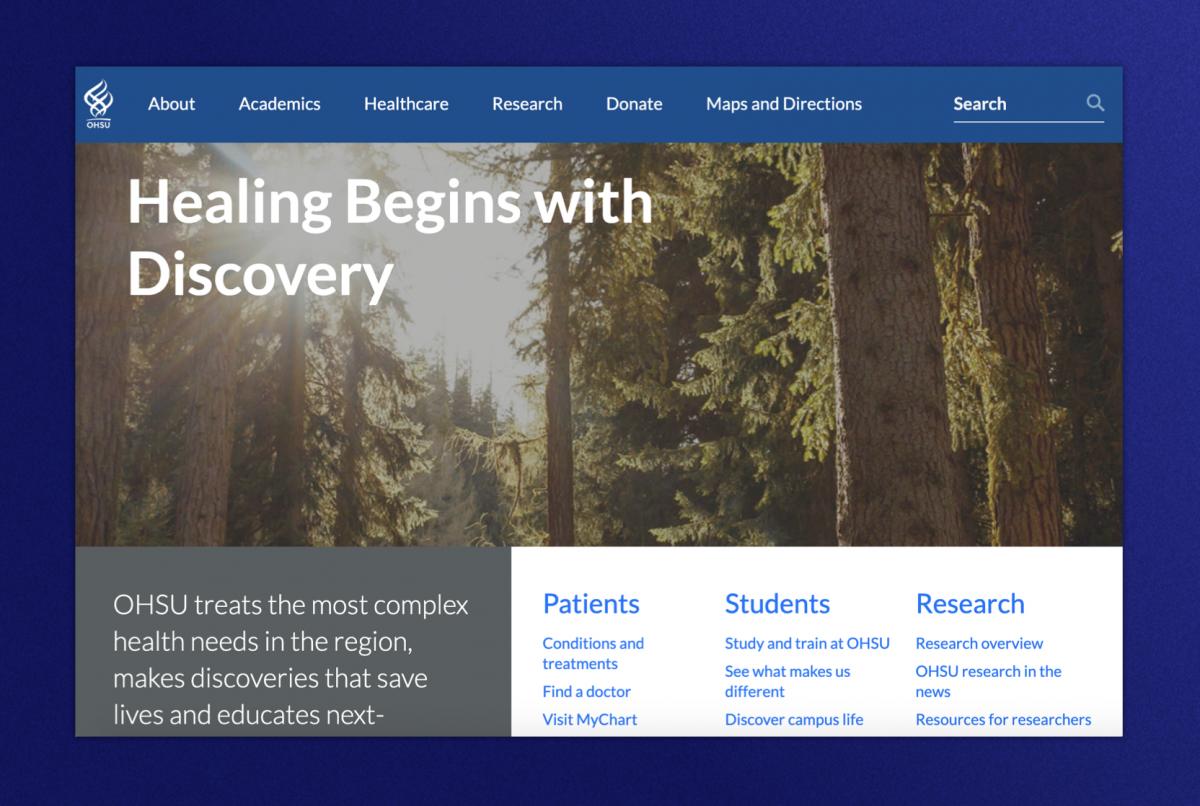Oregon Health homepage