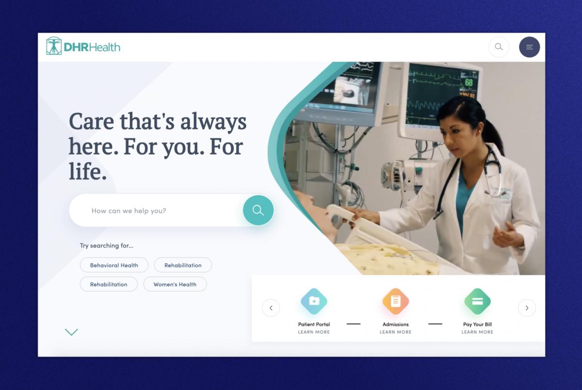 DHR Health homepage