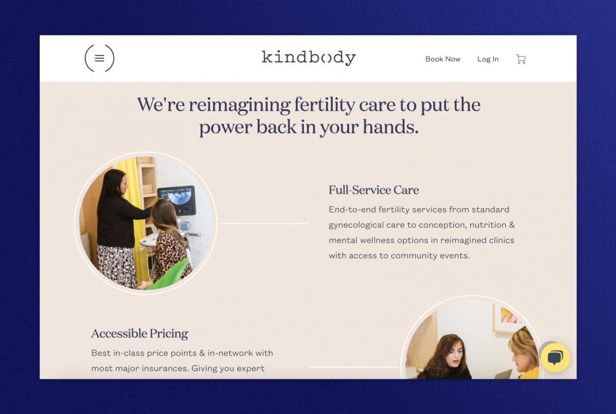 KindBody homepage
